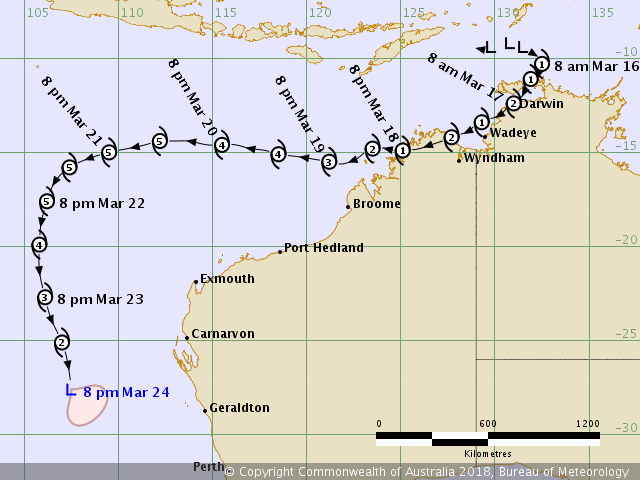 Tropical Cyclone Cyclones Tracking Maps Debbie Marcia Hamish Larry ...