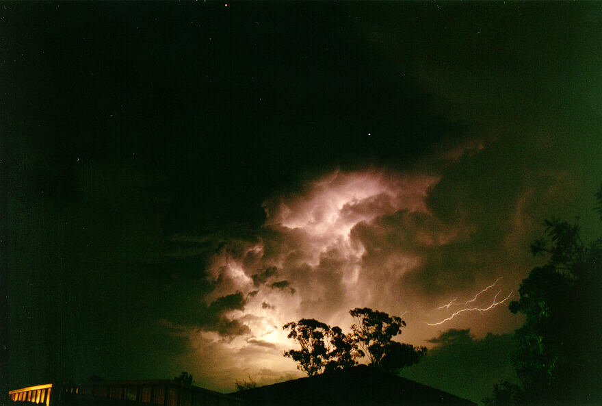 from lightning effects of thunderstorms. Internal lightning activity